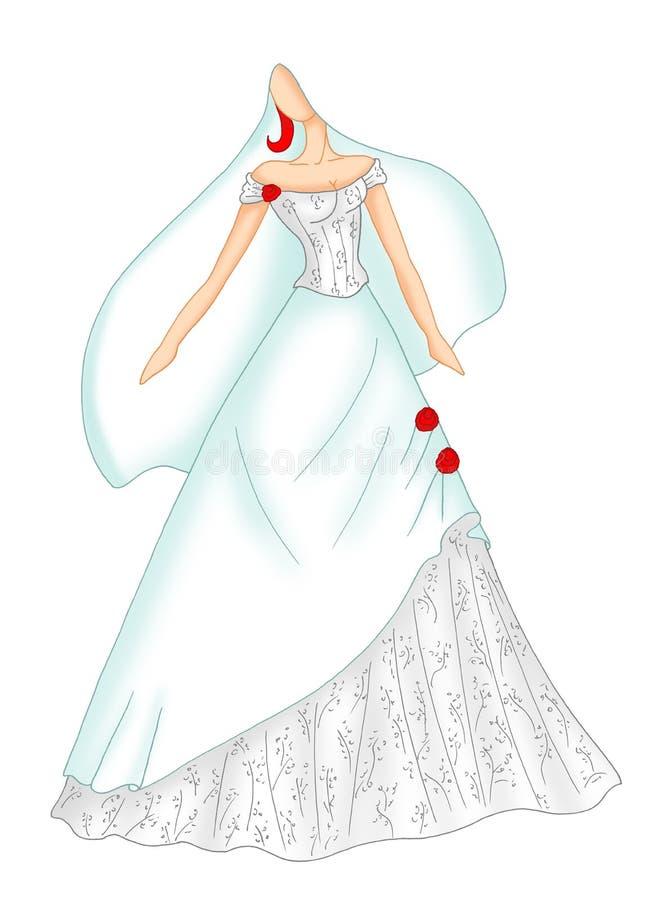 Wedding dress 4 stock photos
