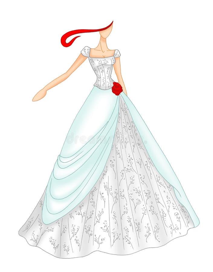 Wedding dress 5 stock photography