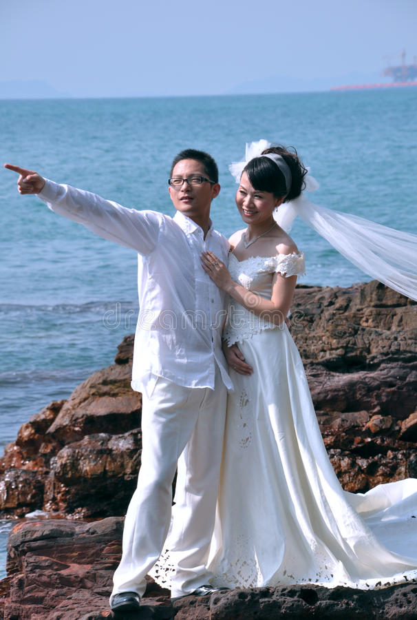 Download Wedding dress stock photo. Image of asian, groom, beach - 9376176