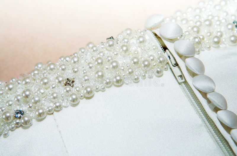 Wedding dress detail royalty free stock photos