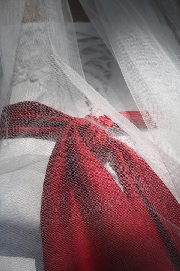 Wedding dress detail royalty free stock images