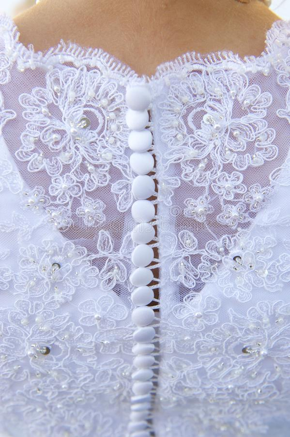 Wedding Dress Detail and Bride royalty free stock image
