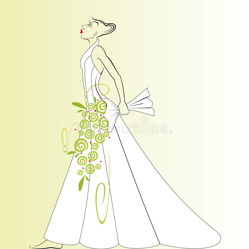 Wedding Dress DT stock image