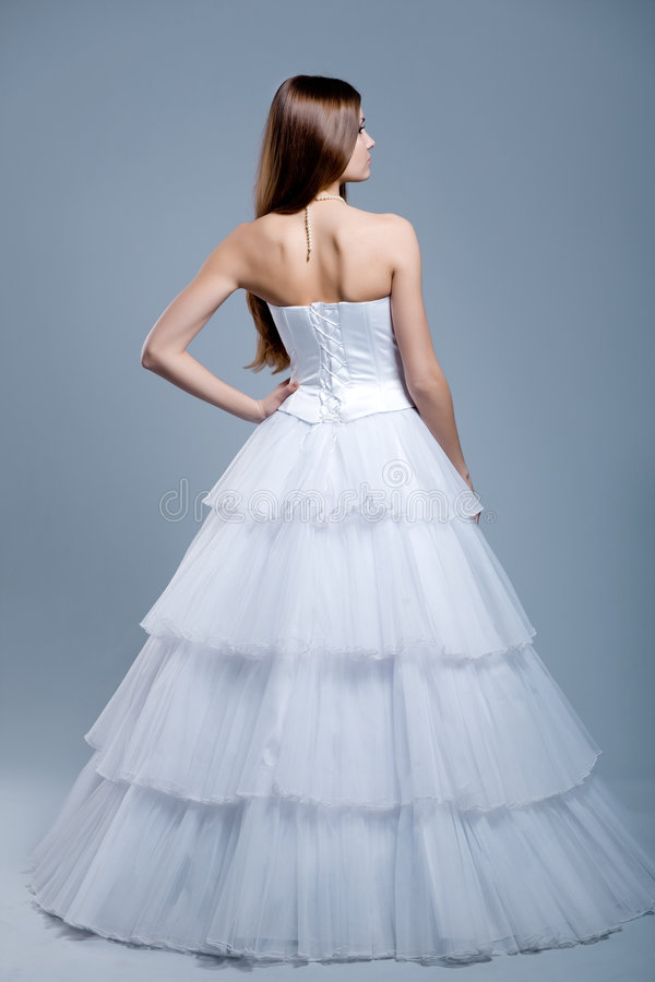 Wedding Dress On Fashion Model Royalty Free Stock Photography