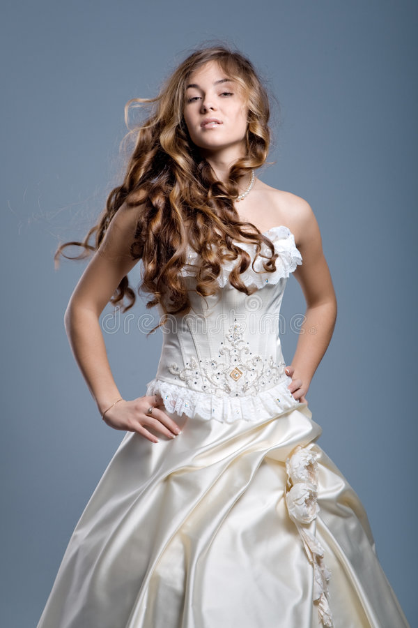 Download Wedding Dress On Fashion Model Royalty Free Stock Photography - Image: 4561387