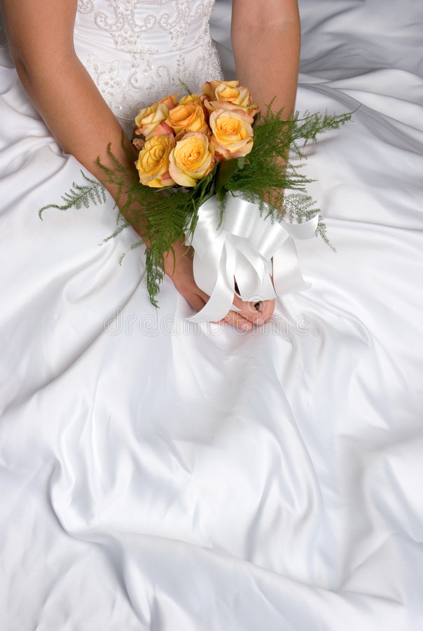 Wedding Dress Flowers stock image