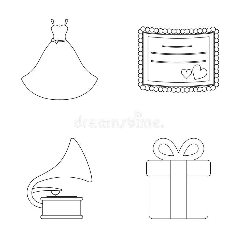 Wedding Dress, Invitation, Gift, Gramophone. Wedding Set Collection ...