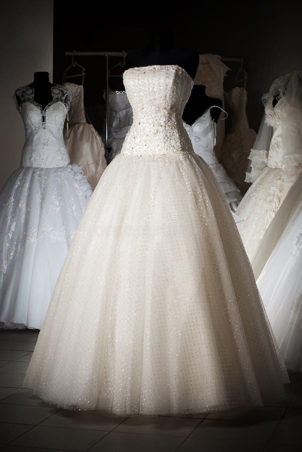 Wedding Dress Shop Stock Images