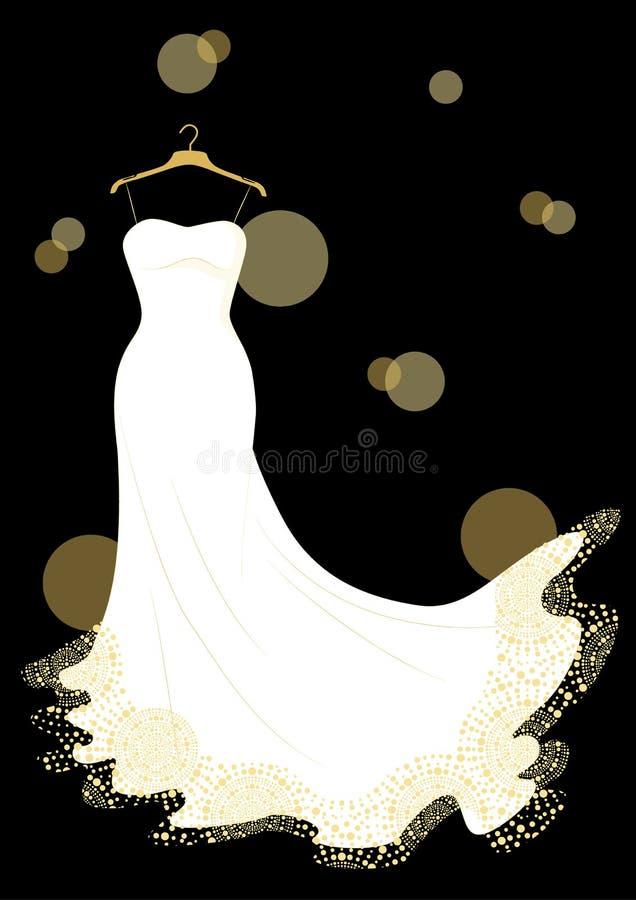 Wedding dress royalty free illustration