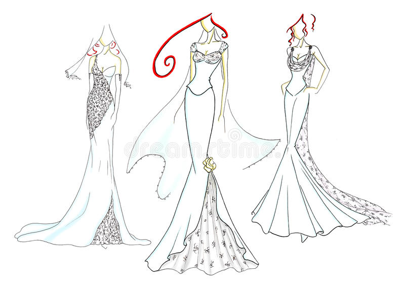 Wedding dresses royalty free stock images