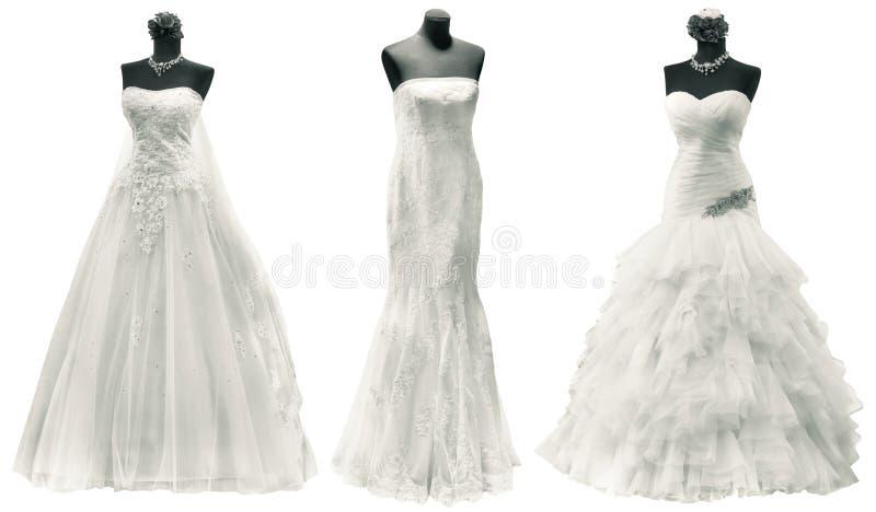 Wedding Dresses Cutout royalty free stock image