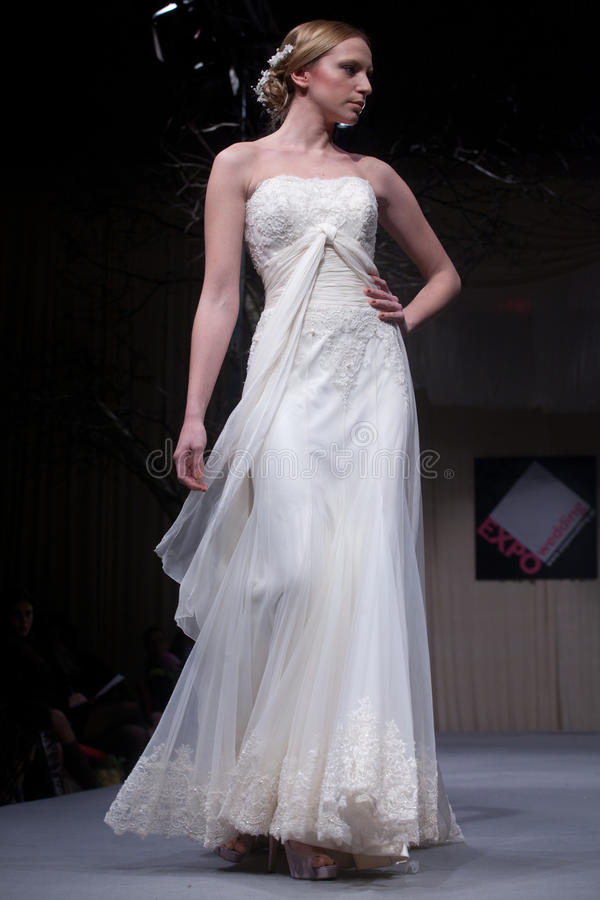 Free Wedding Dresses Fashion Show Stock Images - 22936504