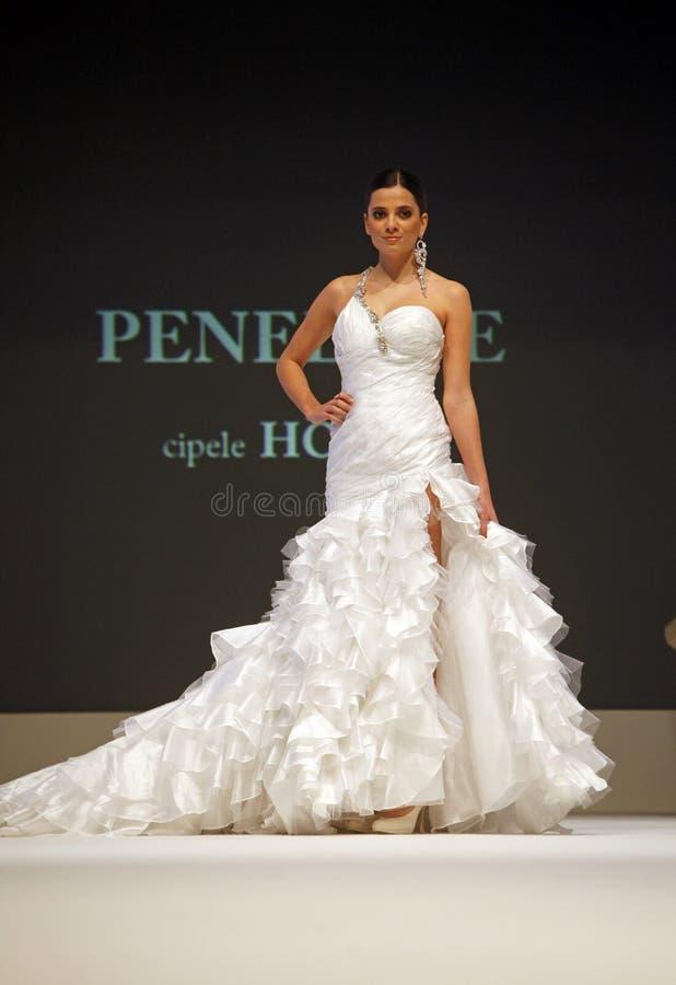 Wedding Dresses Fashion Show Editorial Photo