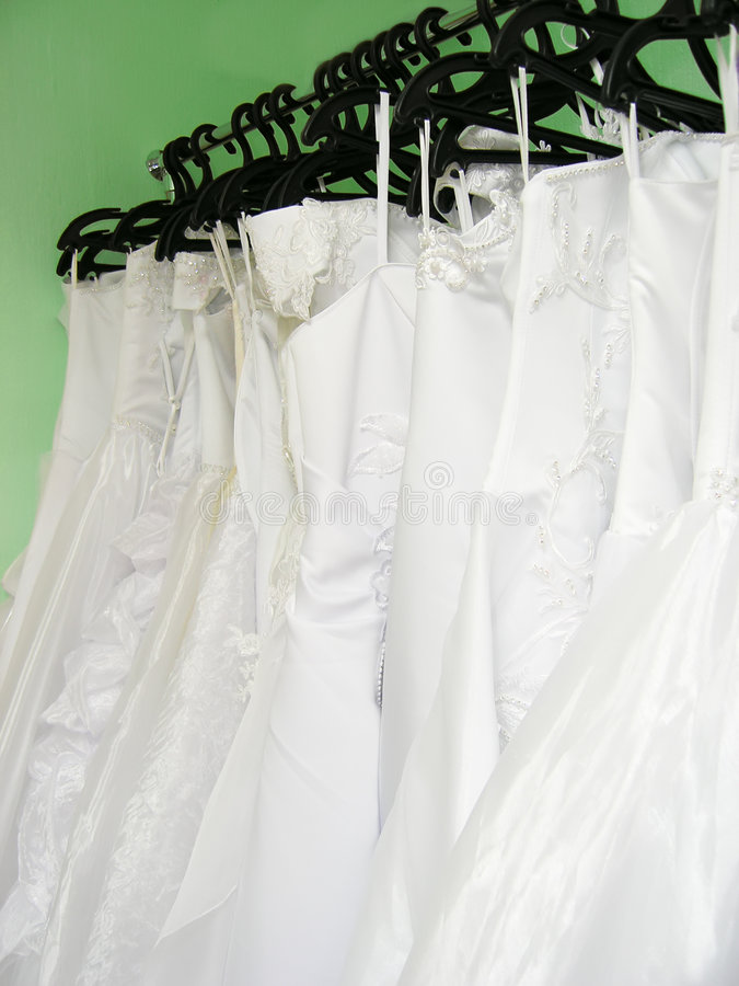 Download Wedding dresses on hangers stock photo. Image of strap - 2323208