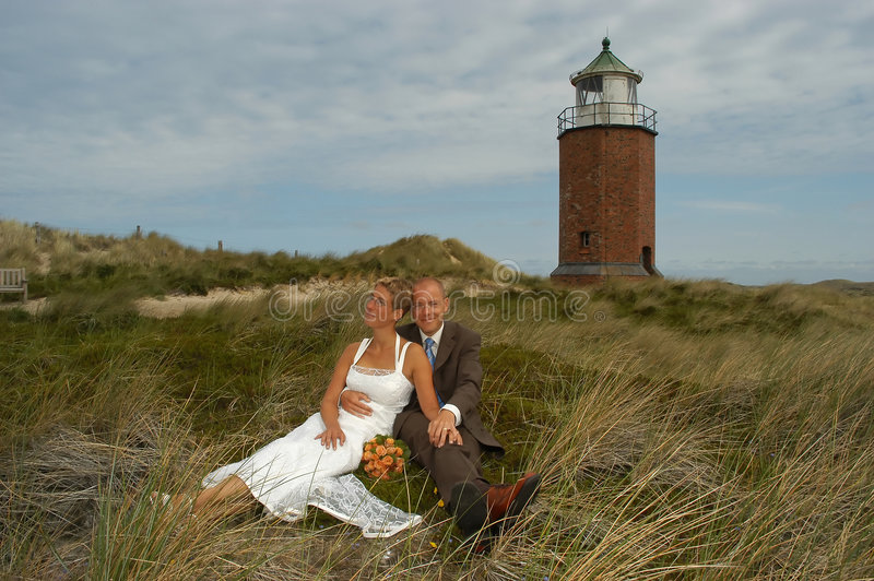 Wedding in the dunes royalty free stock photo