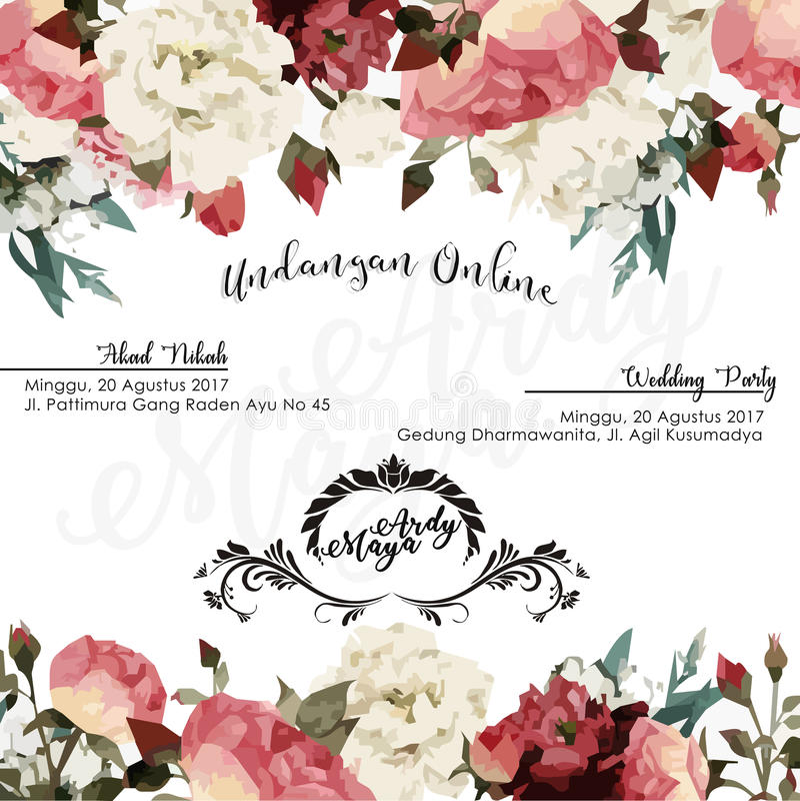Wedding E invitation royalty free stock photos