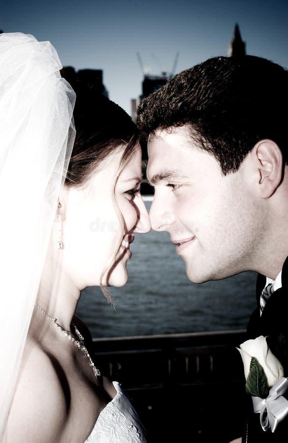 Wedding em New York City imagem de stock royalty free