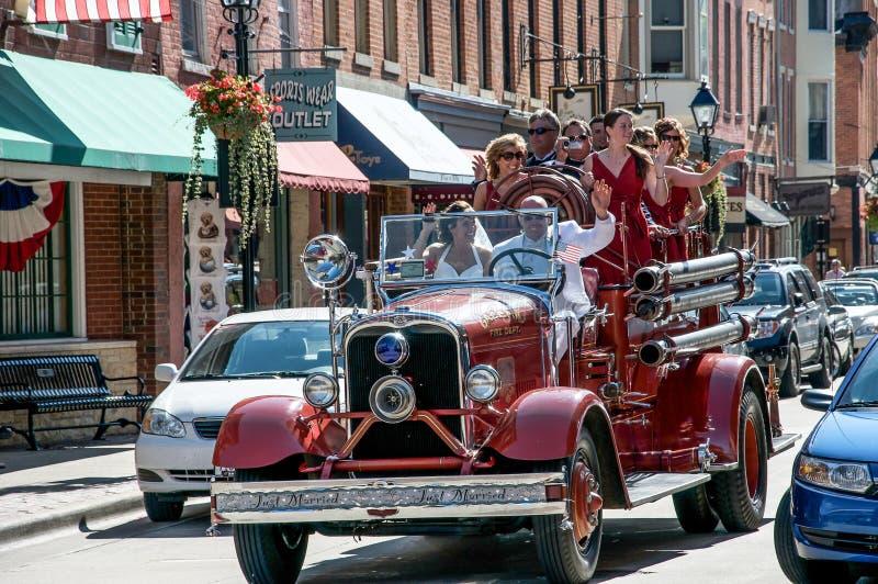 Wedding En Galène, L Illinois Photo stock éditorial