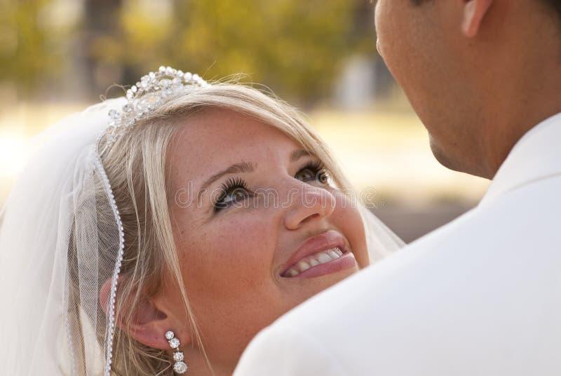 Wedding en stationnement image stock