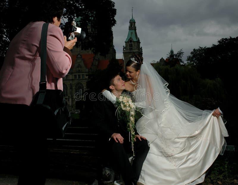 Wedding fanny photosession stock photography