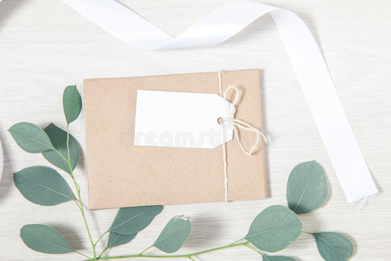 Wedding Favor Tag Mockup, Wedding Thank You Tag royalty free stock photos