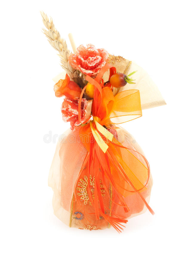 Wedding Favors - Small Bag With Roses stock image