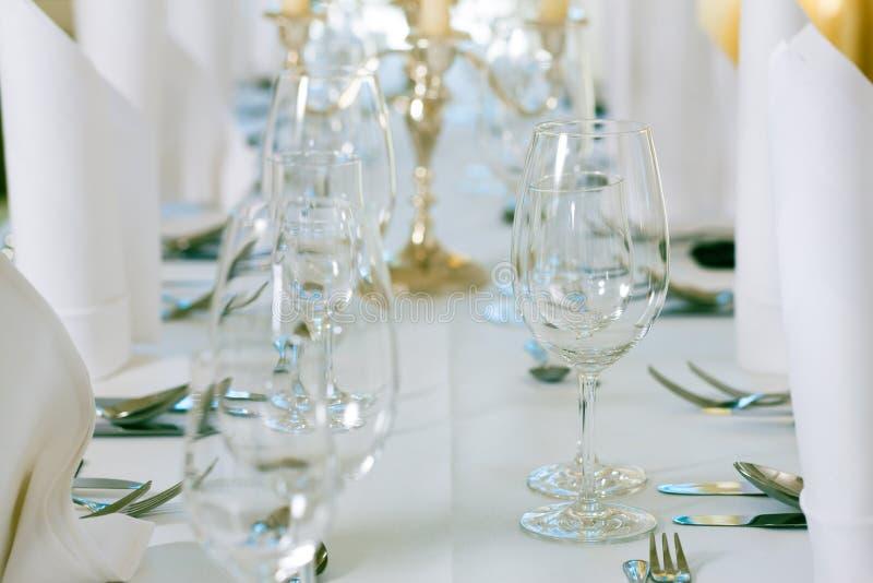 Wedding - feastfully verzierte Tabelle stockfoto