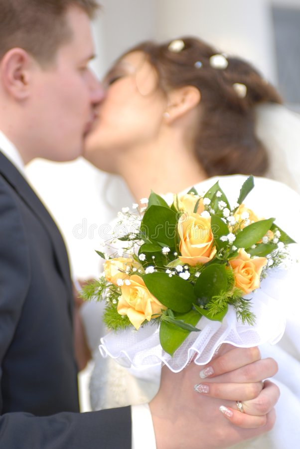 Download Wedding. First Kiss Stock Image - Image: 1480871