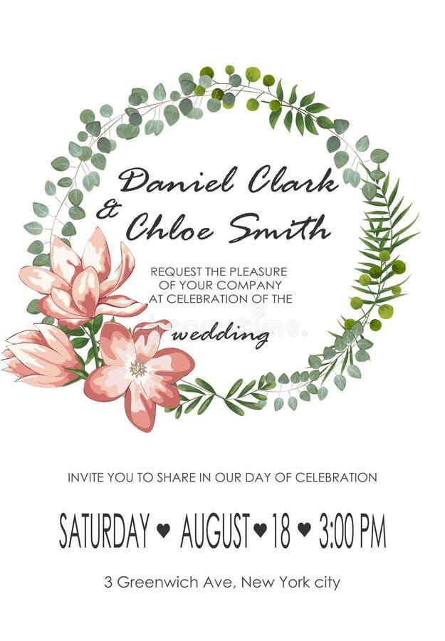 wedding border pink and white roses stock illustration