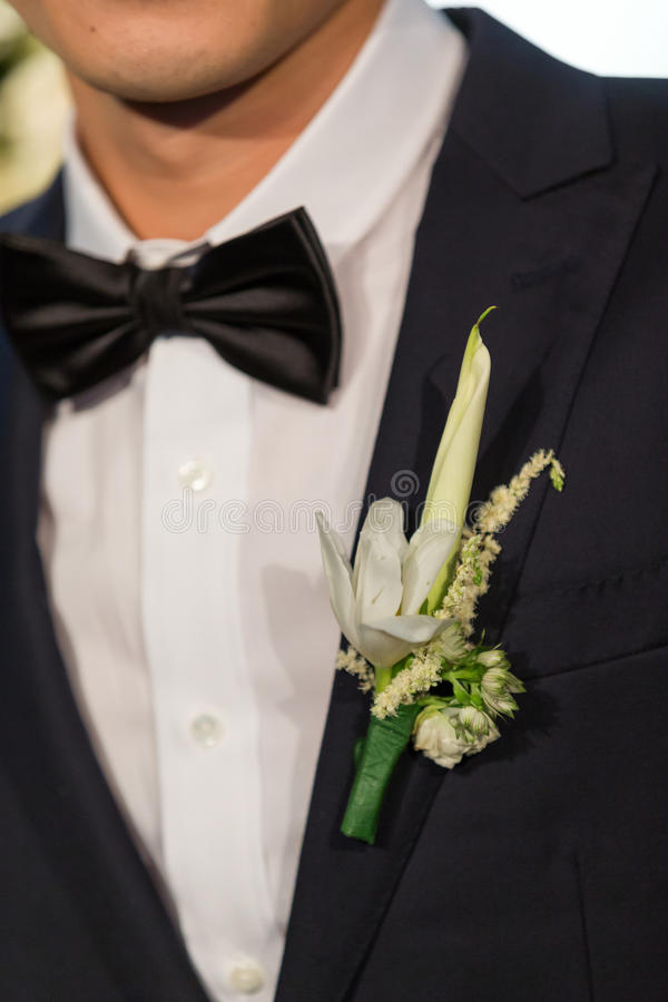 Wedding flower for bridegroom royalty free stock photo