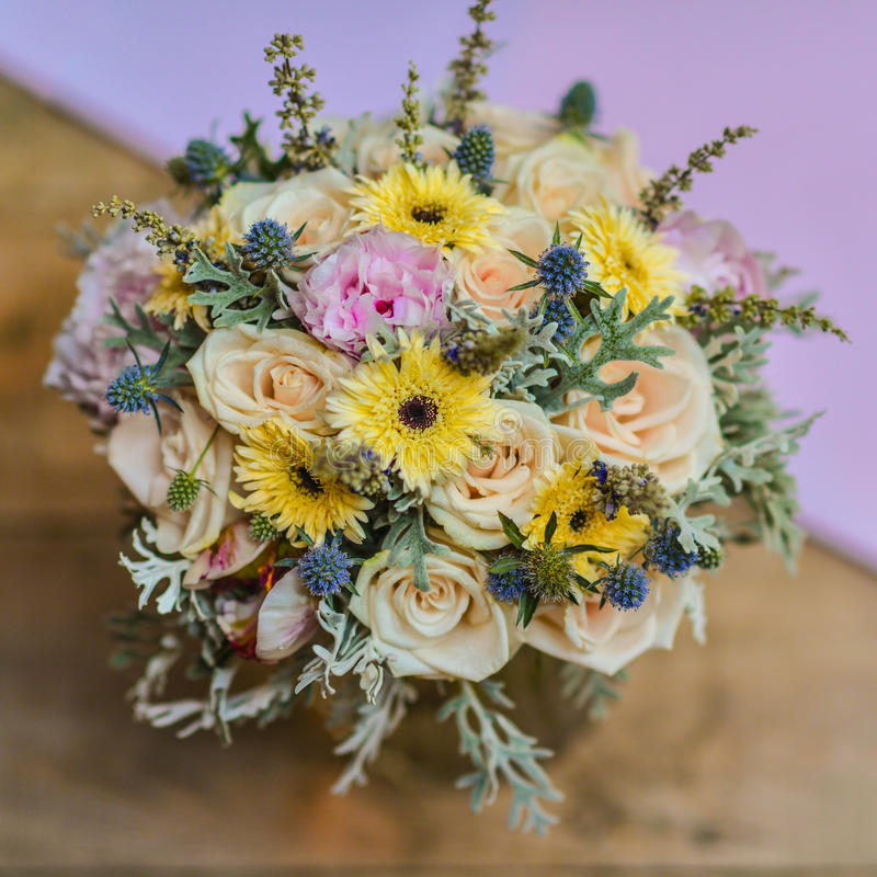 Wedding flower. The looks happy wadding day royalty free stock photos