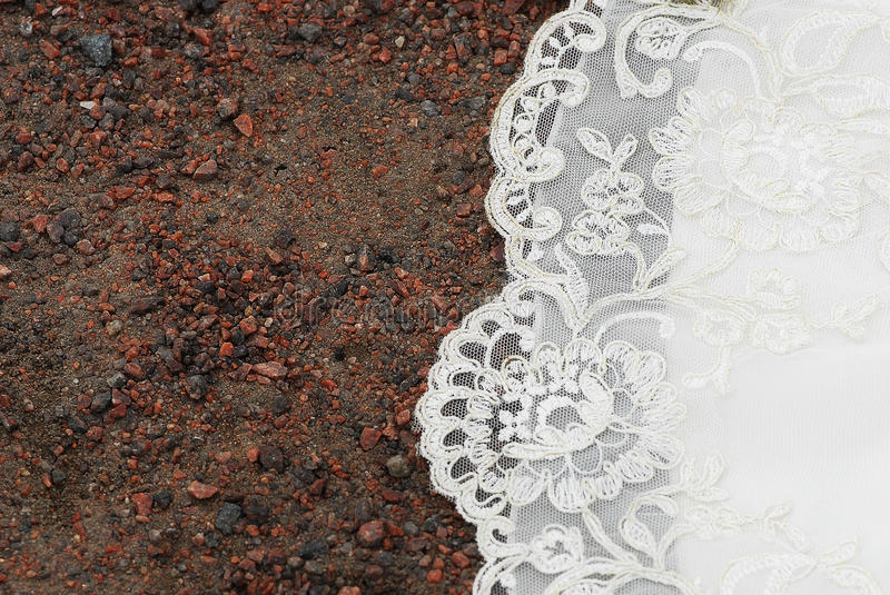 Download Wedding Flower's Lace On Gravel Stock Photo - Image: 14590778