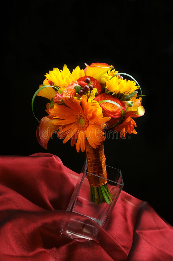 Wedding flowers bridal bouquet stock photo