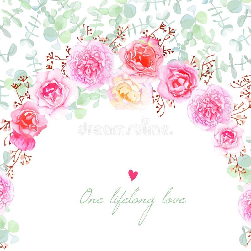 Wedding Flowers Vector Card Stock Vector - Illustration of ...