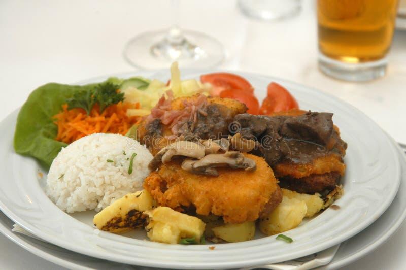 Wedding food. Tasty food on wedding table royalty free stock photos
