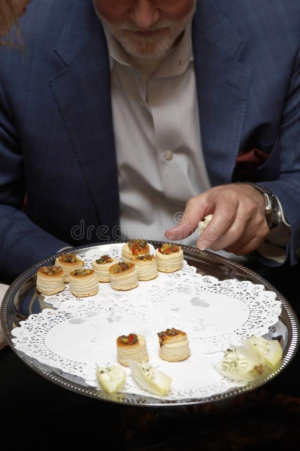 Wedding food stock photography