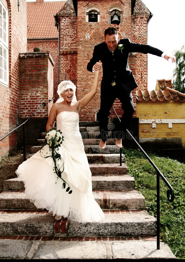 Wedding fun stock photography
