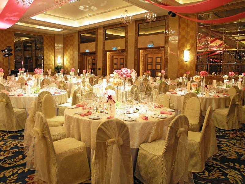 Wedding gesetzte Tabelle stockfoto