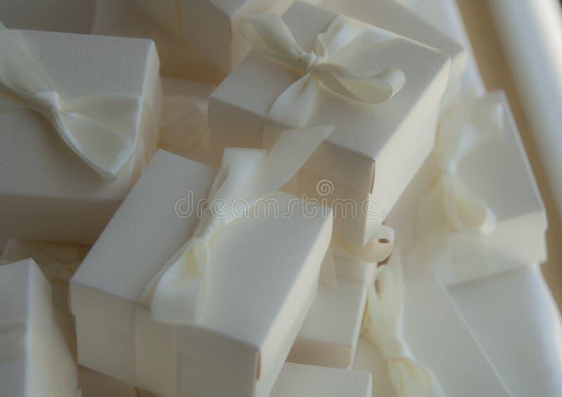 Wedding gift boxes and ribbon