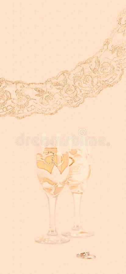 Wedding gift card royalty free stock images