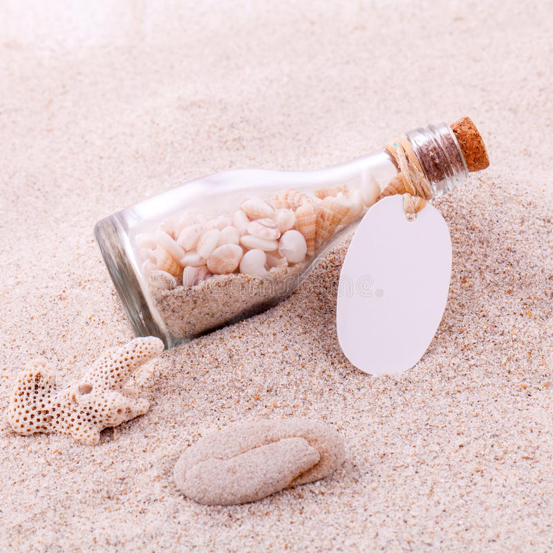 Wedding gift in the wedding. Venue on the beach stock image