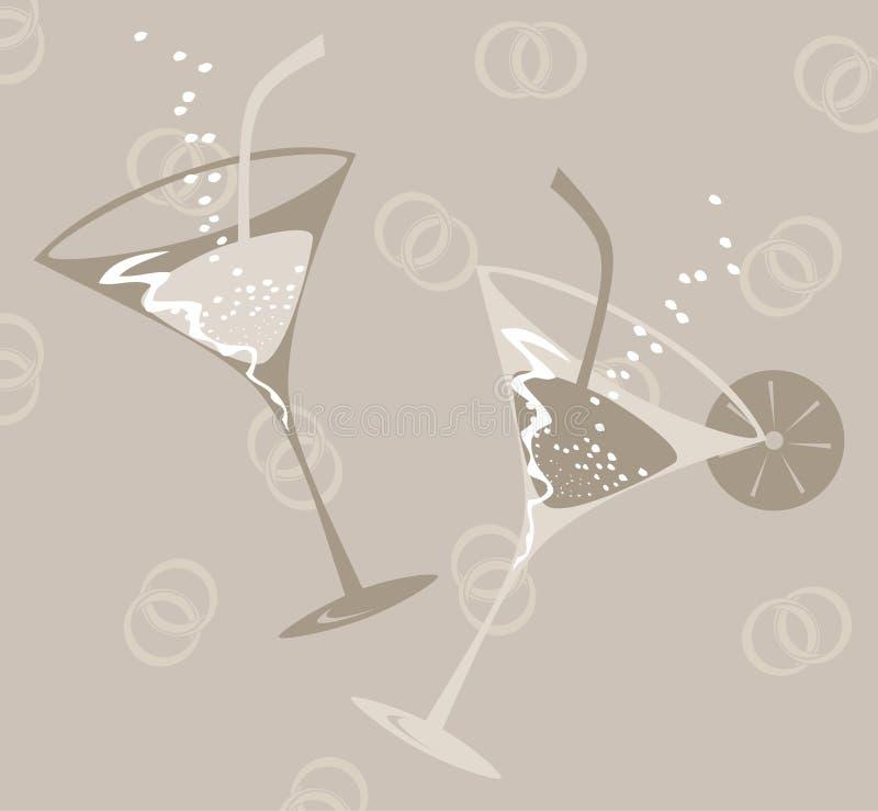 Wedding glass. Two glasses on wedding. A illustration vector illustration