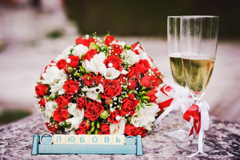 Wedding glasses stock photo
