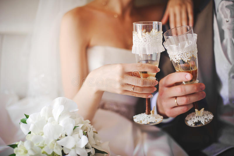 Wedding glasses royalty free stock image