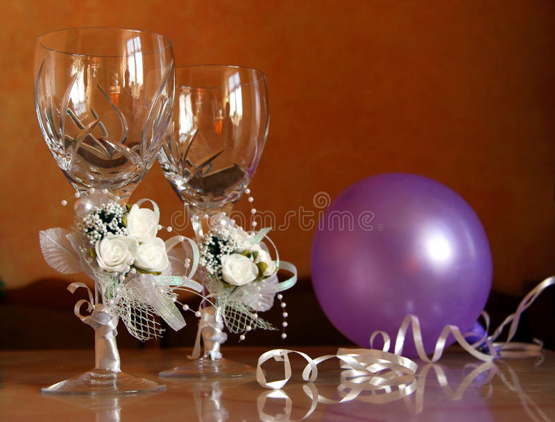 Download Wedding glasses stock photo. Image of rose, glass, wedding - 21980120