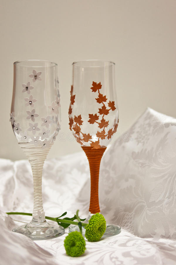 Download Wedding glasses stock image. Image of marriage, flowers - 38309291