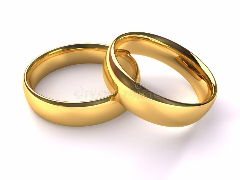Wedding Gold Rings stock illustration