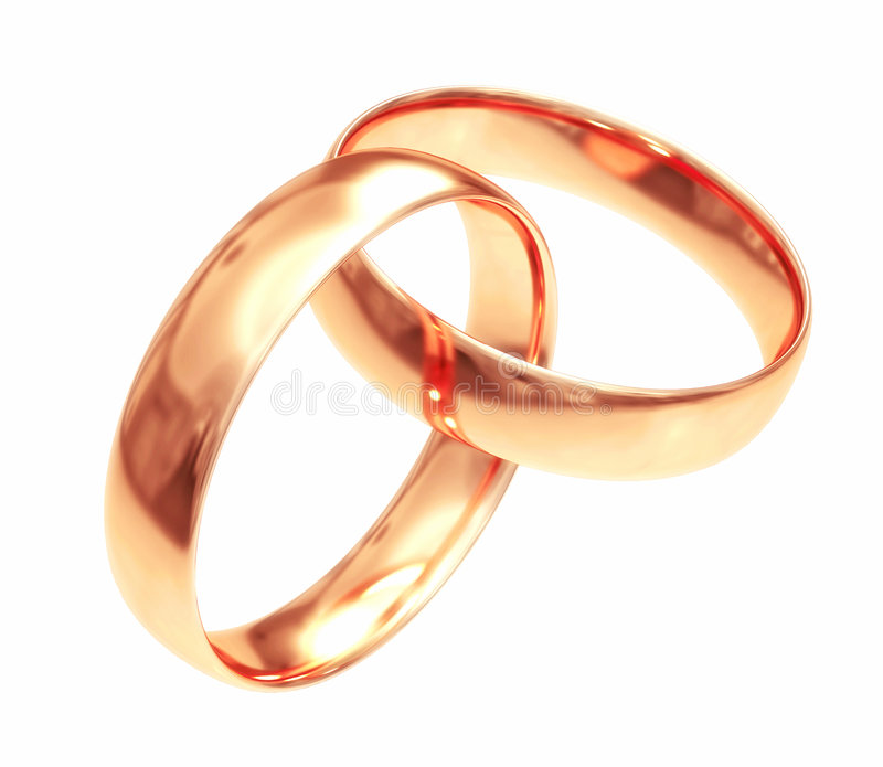 Download Wedding Gold Rings Isolated On White #2 Stock Illustration - Image: 3850917