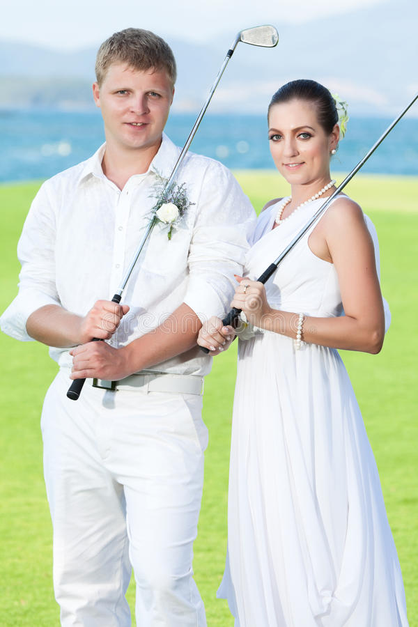 Download Wedding golf stock image. Image of model, charming, course - 19347105