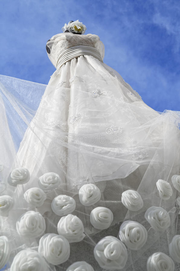 Download Wedding Gown stock image. Image of roses, nuptials, bridal - 24551491